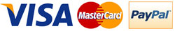 image of different kind of payment accepted : Visa, Mastercard and Paypal